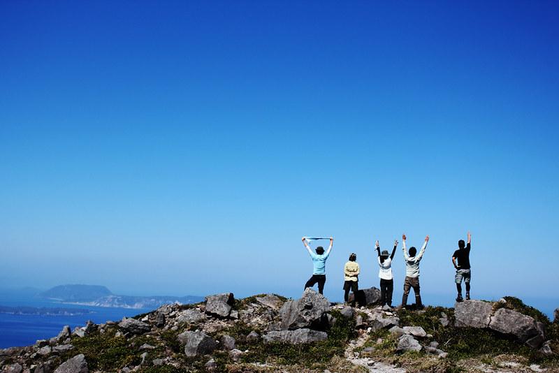 神津島の集合写真