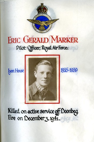 Marker, Eric Gerald (1922-1941) | by sherborneschoolarchives