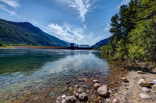 water pentax dam columbiariver castlegar hughkeenleysidedam arrowlakes pentaxk5 summervacation2013 higharrowdam imgp57934567fused