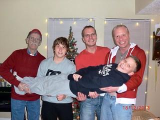Jared, his Dad, Daniel, nephews over for Christmas