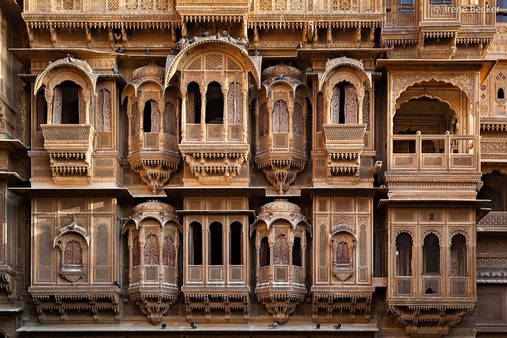 Façade d'un Haveli à Jaisalmer
