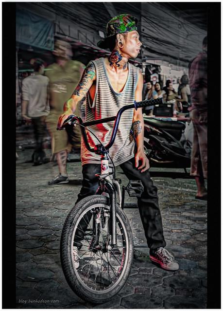 Boy on Bike - Walking St