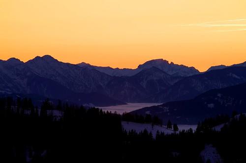 winter sunset mountain fog haze minolta kärnten carinthia hazy minoltadynax7d adaptall2 tamronmodel51bsp17mmf35