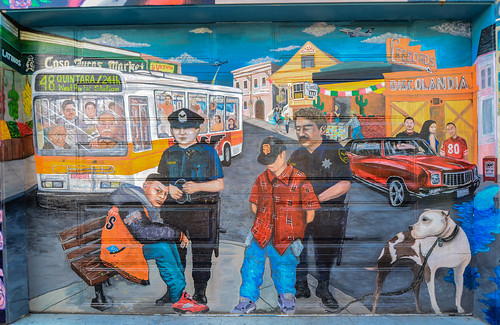 Mural: Cops and immigrants | by Franco Folini