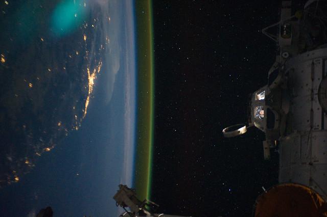 Sideways Over Australia at Night (NASA, International Space Station, 09:15:11)