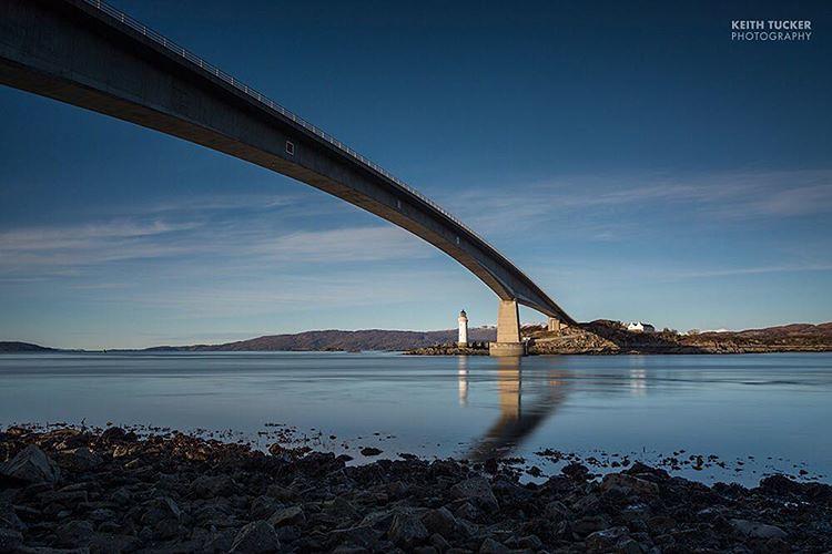 The Skye bridge, viewed from Skye looking back towards the