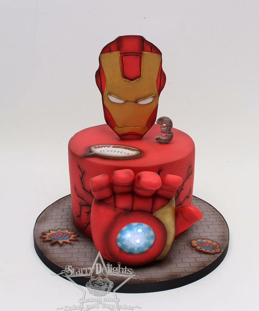 Astonishing Ironman Avengers Birthday Cake Starrydelights Superh Flickr Birthday Cards Printable Trancafe Filternl