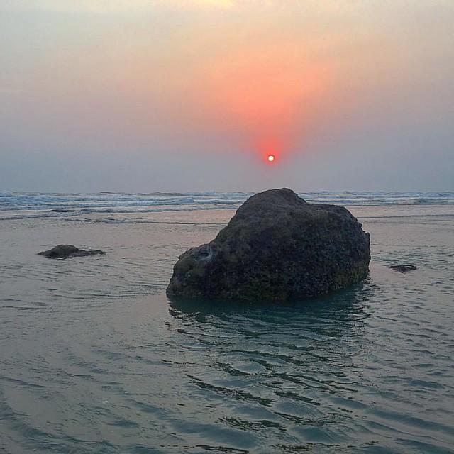 #sunset #beach #ocean #coxsbazar