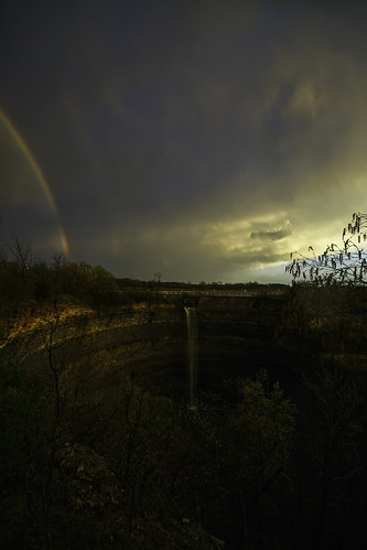 ontario canada sunset rainbow rain evening niagara storm thunderstorm vertical hamilton creek punchbowl escarpment devils stoney