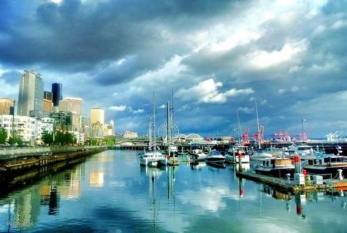 seattle sky clouds pier afternoon waterfront pier66 nikon1 1j1