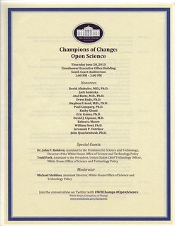 White House Champions of Change in Open Science
