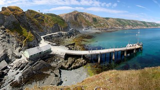 Coastal Environments - Looking across the Lundy Island Landing Stage from Rat Island, Bristol Channel, United Kingdom   by Richard Allaway