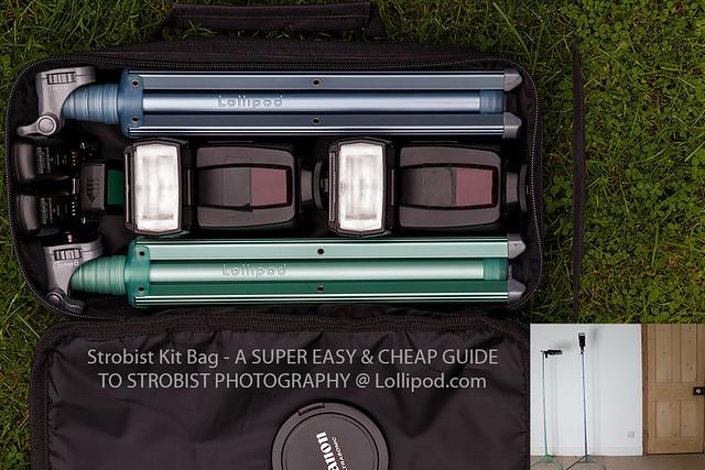 Strobist Kit Bag - A SUPER EASY & CHEAP GUIDE TO STROBIST PHOTOGRAPHY @ http://lollipod.co.uk/portfolio/strobist-tripod