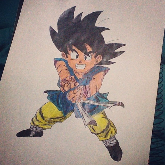 Meu Humilde Desenho Do Goku Goku Kakaroto Sayajin B Flickr