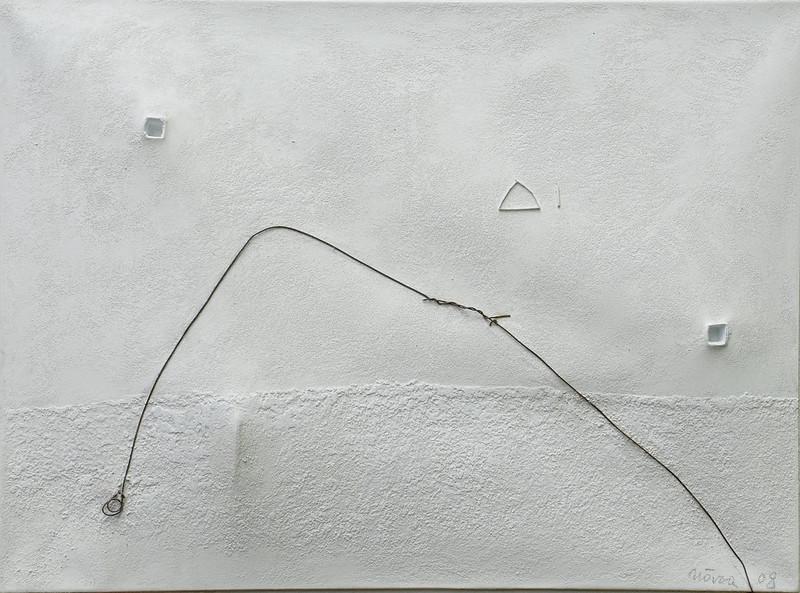Double espace blanc au fil de fer