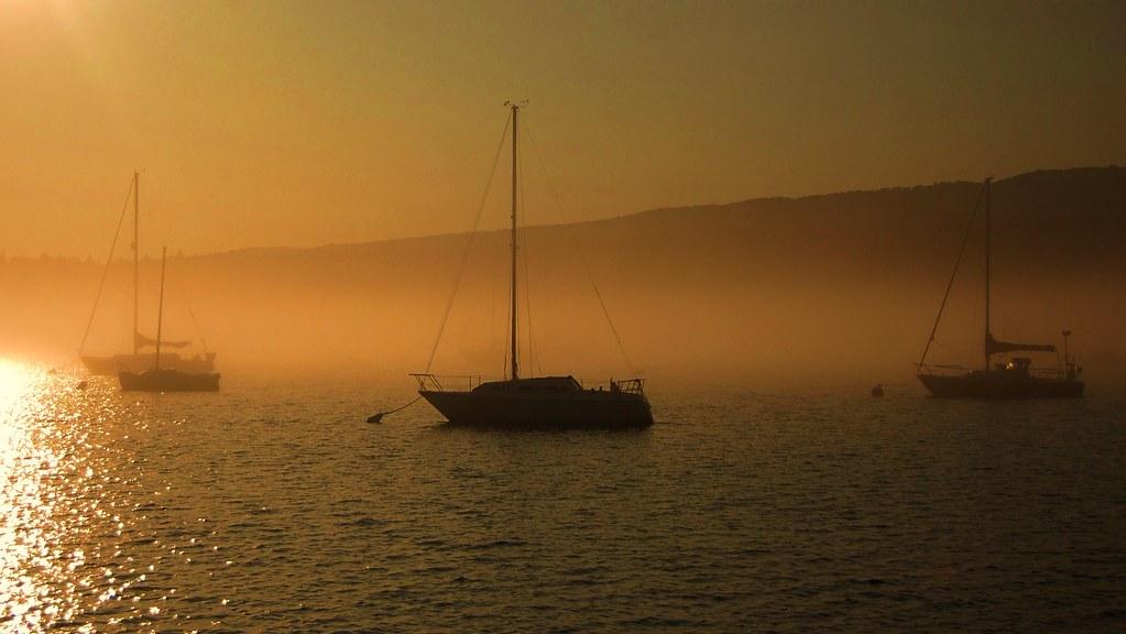 Sailboats at Anchor