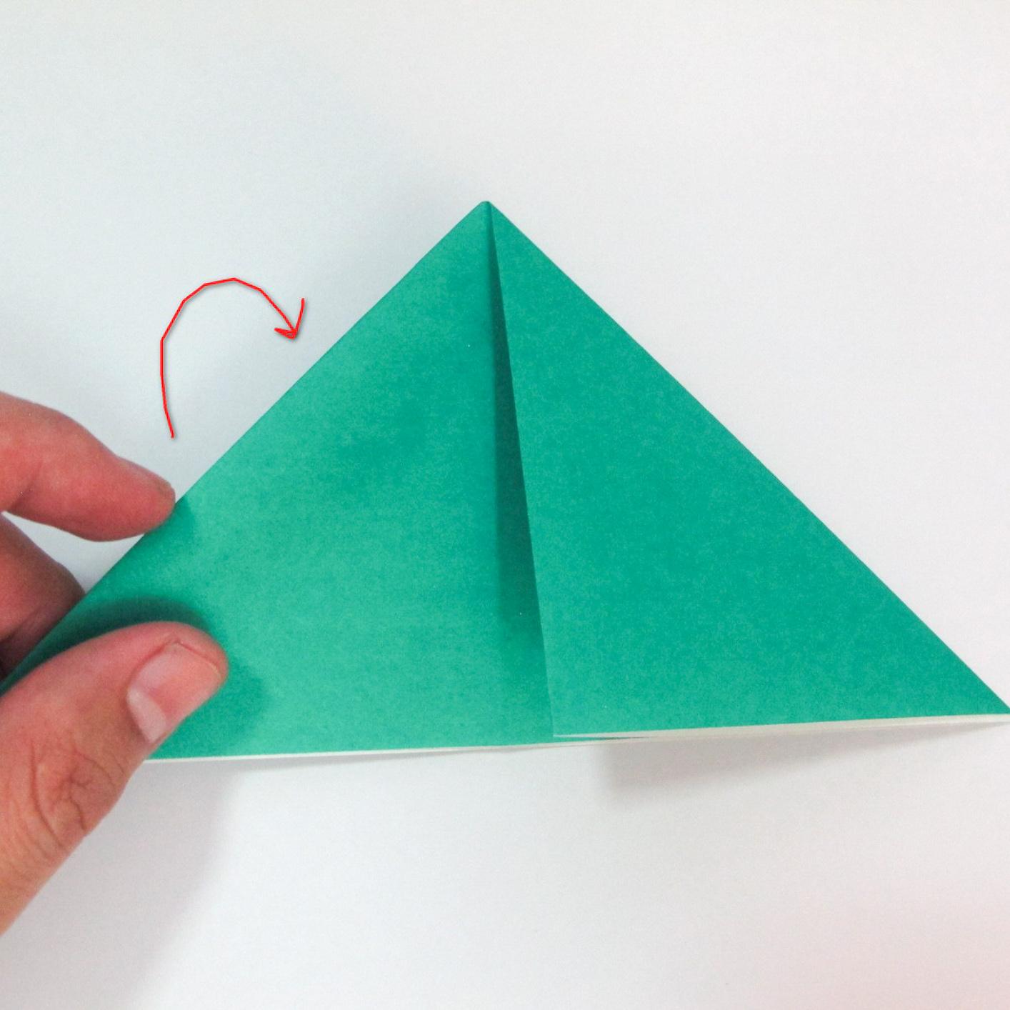 สอนวิธีการพับกระดาษเป็นรูปปลาฉลาม (Origami Shark) 004
