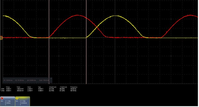 positive half dutycycle from signal 2 and 3 arduino