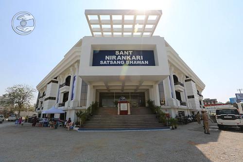 View of Newly constructed Sant Nirankari Satsang Bhawan