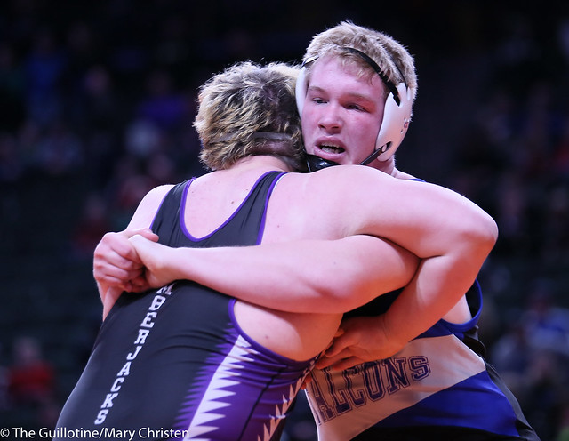 285AA - 1st Place Match - Mitch Trigg (Foley) 42-3 won by decision over Devin Reynolds (Cec) 37-4 (Dec 8-5)