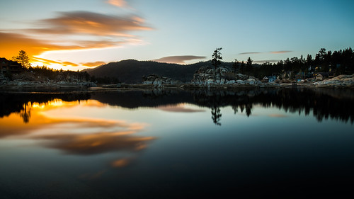 sunset plutotrigger bigbearlake ndfilter canon nature vacation