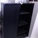 E165 used black medium height. Tambour door storage unit