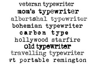 typewriter fonts | Oontje | Flickr