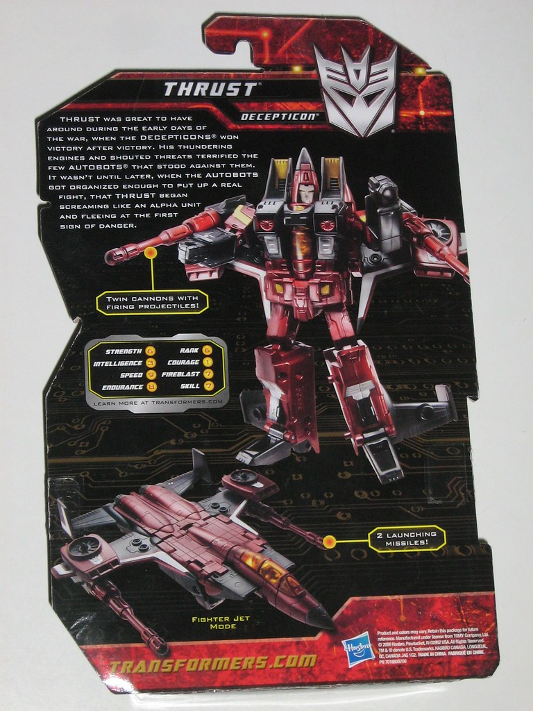 Transformers Generations Thrust Complete Deluxe 2010