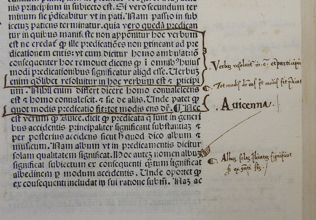Detail of leaf k6r of an incunable edition of St. Thomas Aquinas's In duodecim libros Metaphysicorum Aristotelis expositio