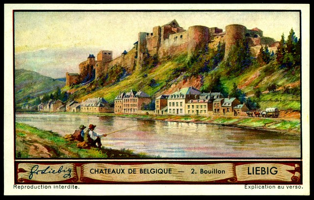 Liebig Tradecard S1288 Belgian Chateaux ~ Bouillon