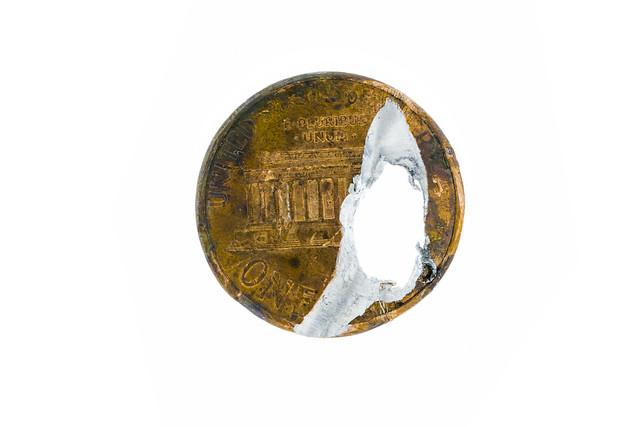 Damaged penny