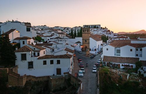 ronda andalucía spain es 2015 architecture bell church color fountain garden light road roof tower town wall