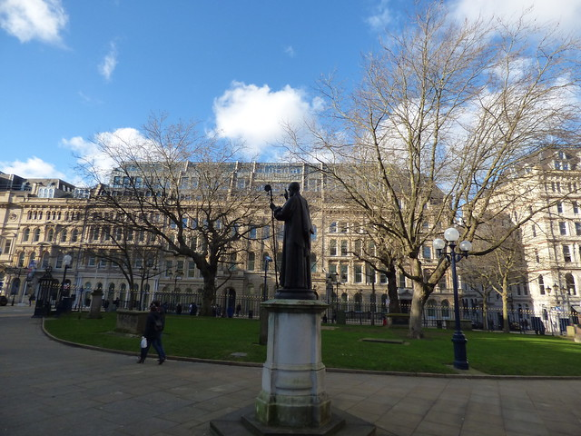 55 Colmore Row from the grounds of St Philip's Cathedral