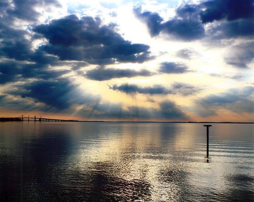 Photo of sunrise over Chesapeake Bay