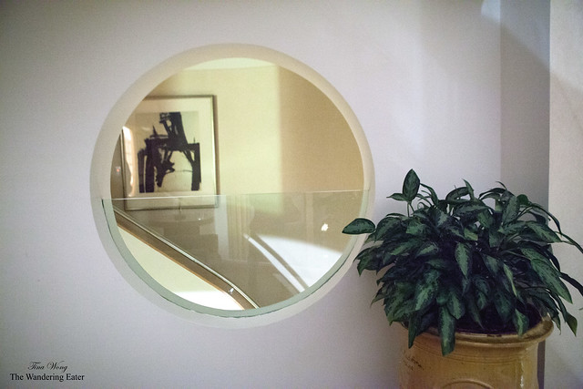 Round window to view the stairway