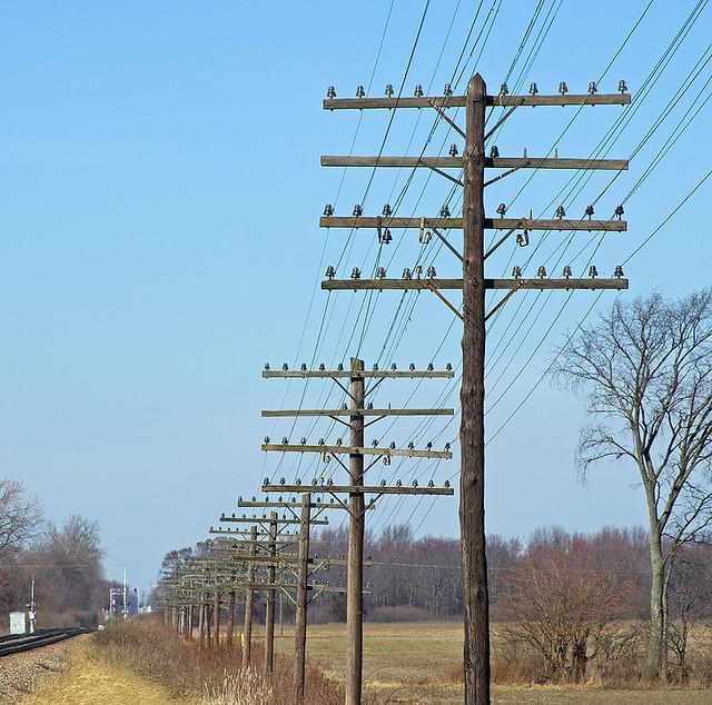 Old C&O Railroad Pole Line in Service Use