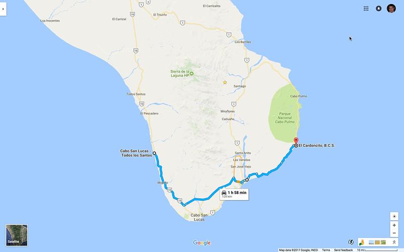 El Pescadero to El Cardoncito