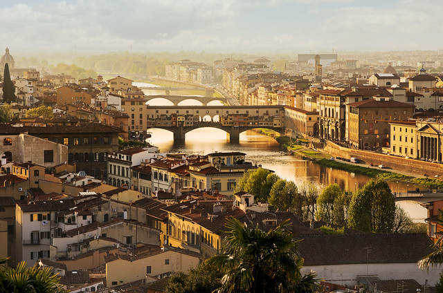 THE THREE BRIDGES OF FLORENCE