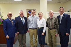L-R; Rep. Jason Perillo; Rep. Ben McGorty; Zach Pratt, VP of Manufacturing; Sandra McCue, CFO; John McCue, CEO; Brian Flaherty, Senior VP of Public Policy at Connecticut Business and Industry Association (CBIA)