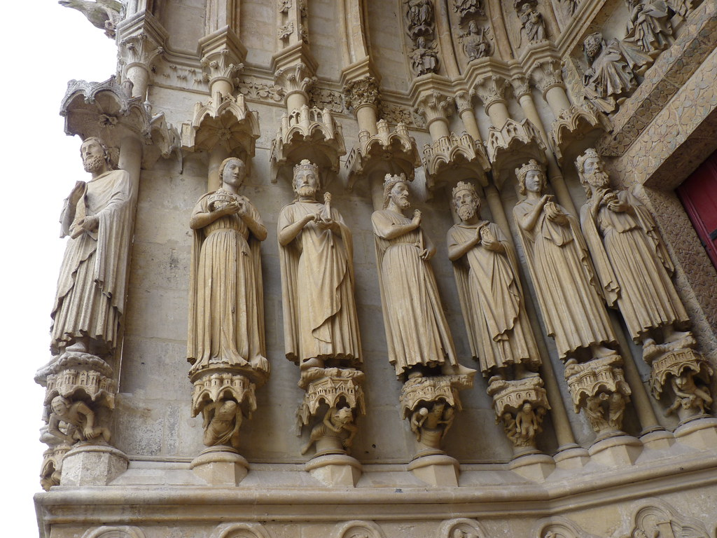 amiens cathedral - statues south portal