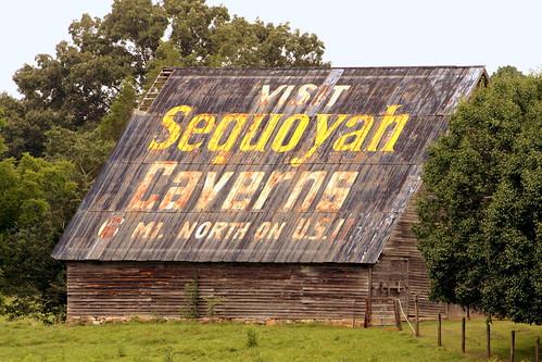 Visit Sequoyah Caverns barn