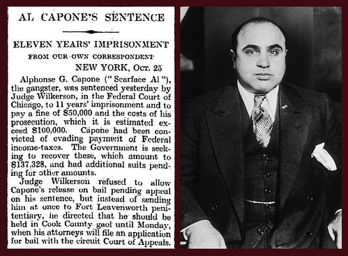 25th October 1931 - Al Capone Jailed | by Bradford Timeline