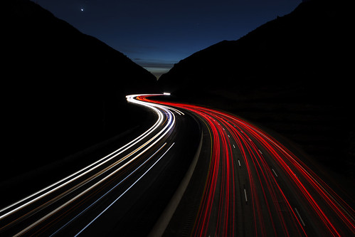 longexposure sunset car headlights western streaks taillights twighlight jimberneike twistingthroughthenight mountainfreeway