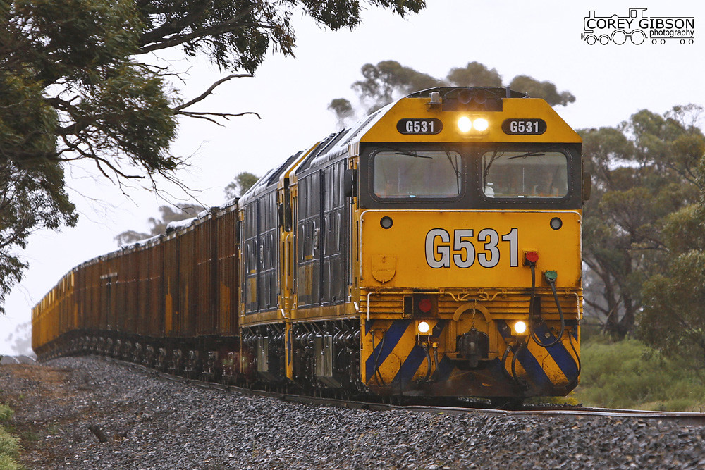 G531 & G530 with a loaded Minerals Sands from Hopetoun. by Corey Gibson