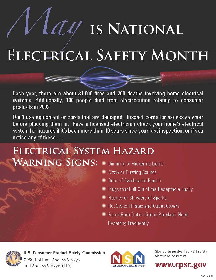May is National Electrical Safety Month | Each year, there a