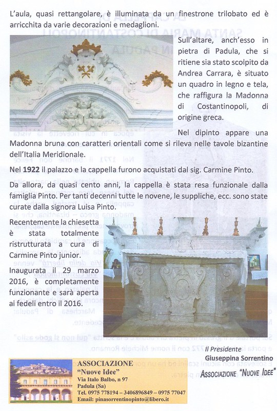 Cappella di Santa Maria di Costantinopoli. PADULA