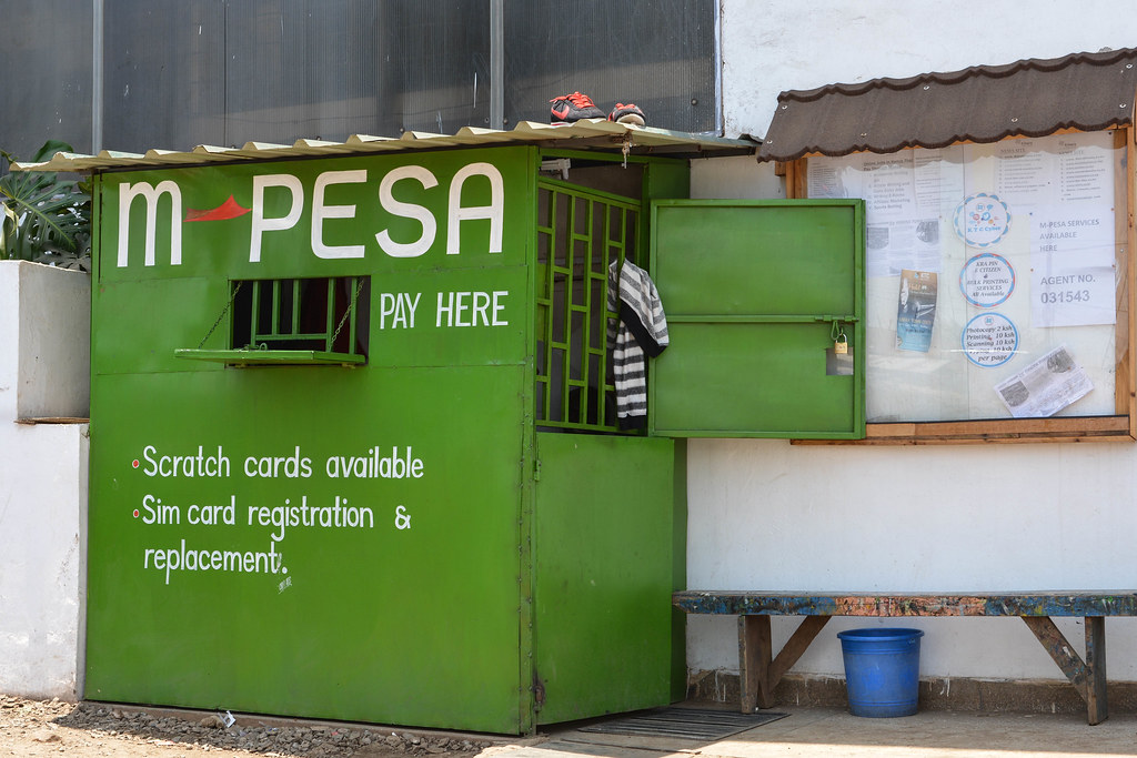 M-PESA kiosk outside Kibera centre in Nairobi | Picture cred… | Flickr