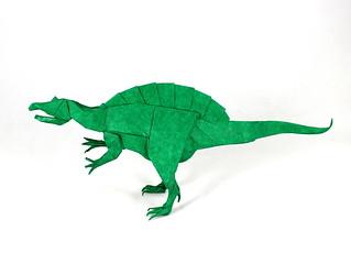 Spinosaurus designed by Satoshi Kamiya, folded by Damian Malicki | by Damian Malicki Origami