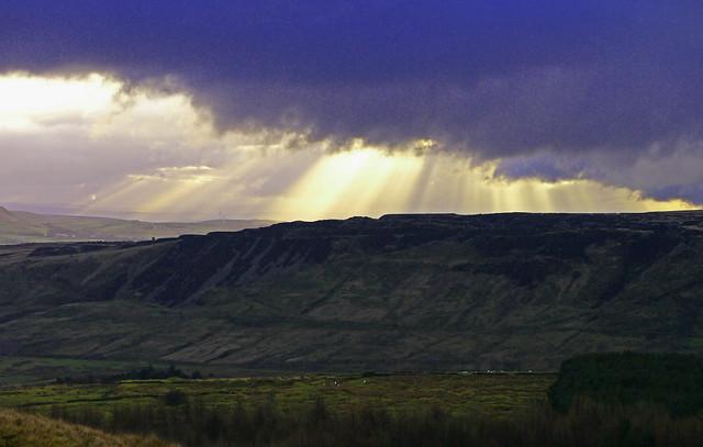 Sunbeams & Pending Storm - Haslingden Grane.