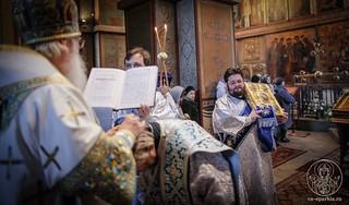 Литургия в Софийском соборе 250